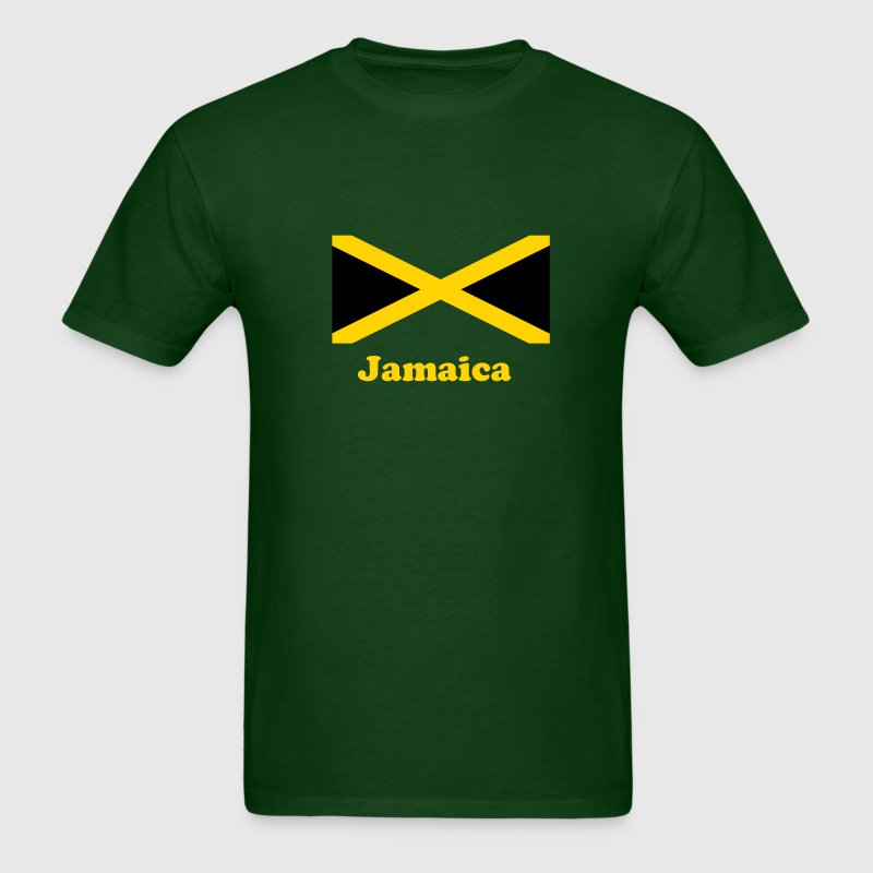 Jamaica flag in two colours - Men's T-Shirt