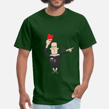 Red Card referee with a red card - Men's T-Shirt