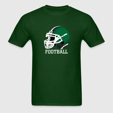green football helmet - Men's T-Shirt