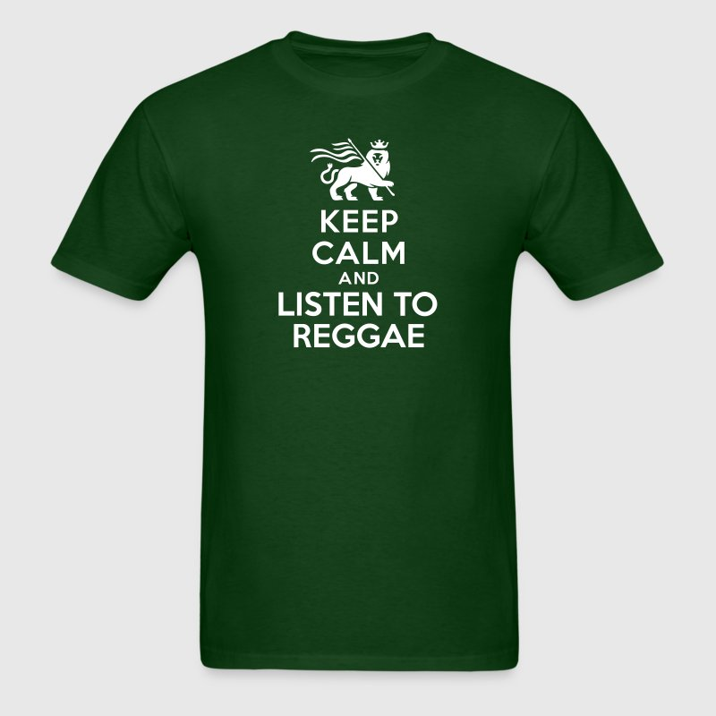 Keep calm and listen to Reggae - Men's T-Shirt