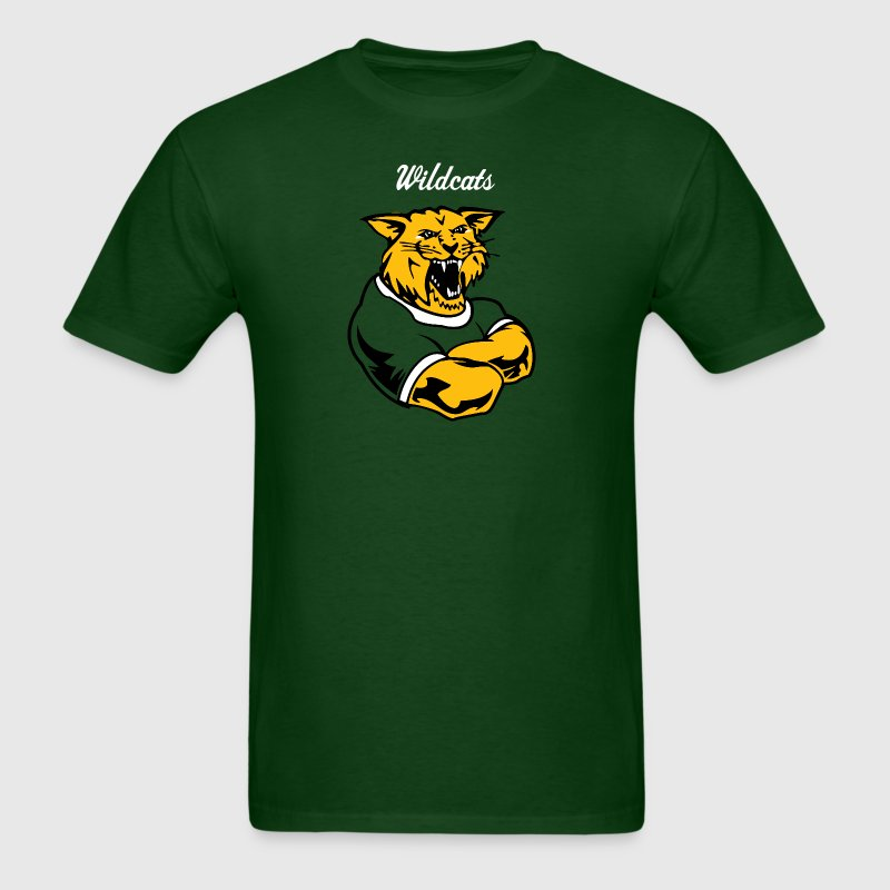 Custom wildcat Mascot - Men's T-Shirt