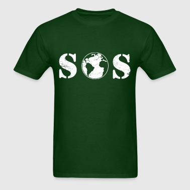 planet_sos_earth_day - Men's T-Shirt