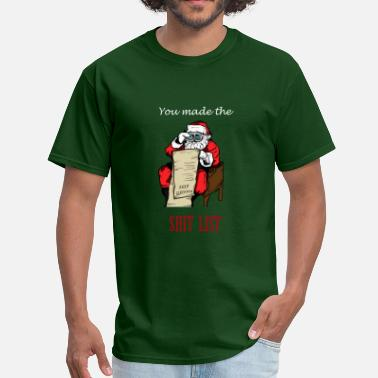 Rude Womens Funny Rude Santa Ugly Christmas Sweater-Funny Xmas - Men's T-Shirt