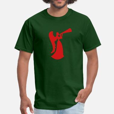 Drinking Horns christmas angel blowing horn or drinking beer - Men's T-Shirt