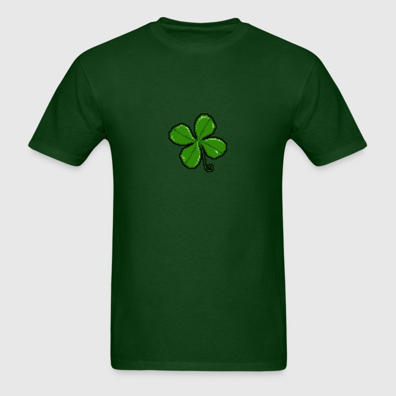 Pixel Shamrock - Men's T-Shirt