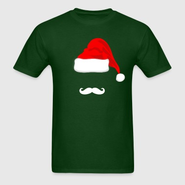 Santa Hat and Mustache - Men's T-Shirt