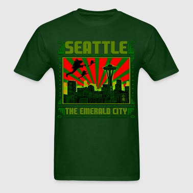 SEATTLE THE EMERALD CITY - Men's T-Shirt