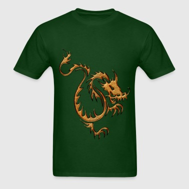 Golden Chinese Dragon I - Men's T-Shirt