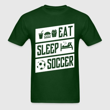 eat sleep soccer - white - Men's T-Shirt