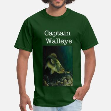 Walleye Fishing Captain Walleye Tee - Men's T-Shirt
