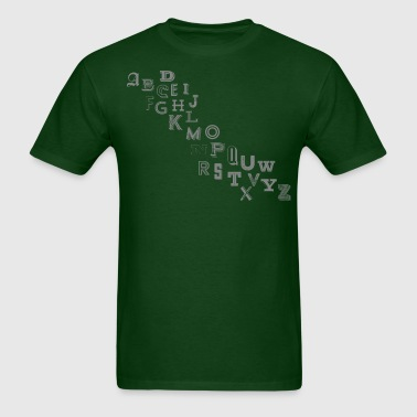 Alphabet Letters - Men's T-Shirt