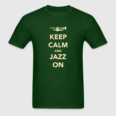 Keep Calm And Jazz On - Trumpet - Men's T-Shirt