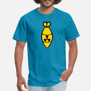 Bomber Bomb atom bomb radioactive bombardment dropping bomber - Men's T-Shirt
