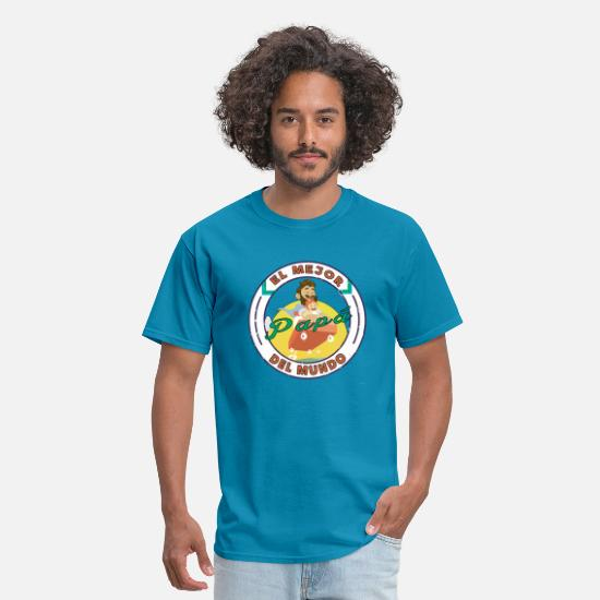 World's Best T-Shirts - El Mejor Papa Del Mundo Best Father In The World - Men's T-Shirt turquoise