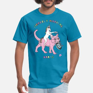 Magical Fiercely Magical Darts Unicorn Riding Cat - Men's T-Shirt