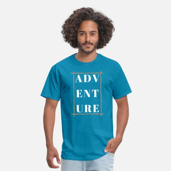 Adventure T-Shirts - Adventure with orange box - Men's T-Shirt turquoise