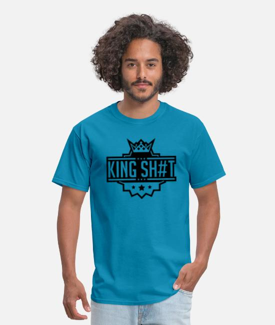Hipster T-Shirts - king_shit_pu1 - Men's T-Shirt turquoise