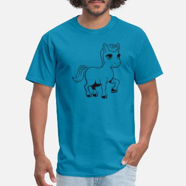Pony Farm Pony horse ride pony farm trotting fun girl sweet - Men's T-Shirt