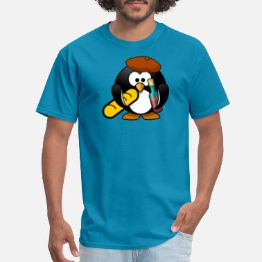 French Comic french Funny penguin in comic style. - Men's T-Shirt