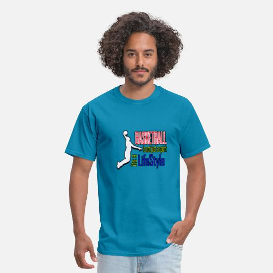 Basket T-Shirts - Basketball is a Lifestyle - Men's T-Shirt turquoise
