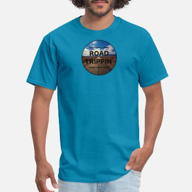 Own Lane ROAD TRIPPIN / adventure, explore, landscape - Men's T-Shirt