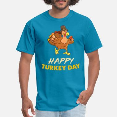 Kids Thanksgiving HAPPY TURKEY DAY SHIRT - Men's T-Shirt