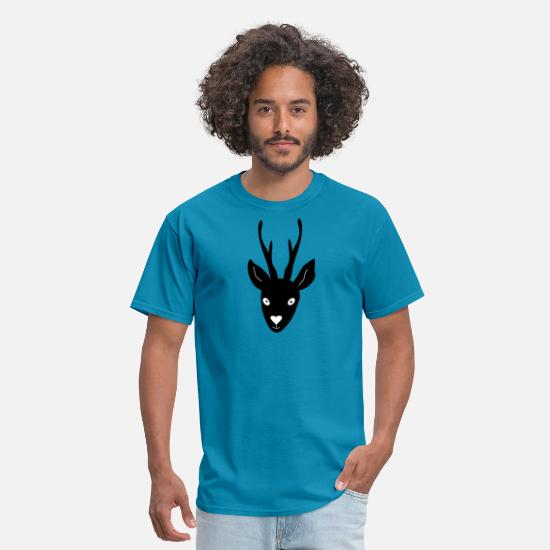 Stag T-Shirts - deer head - Men's T-Shirt turquoise