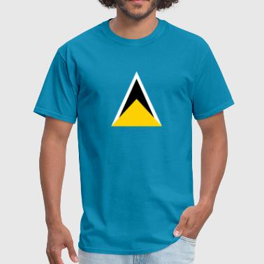 St. Lucia Flag - Men's T-Shirt