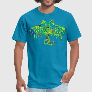 80'S BATTLED 2 HEADED DRG - Men's T-Shirt