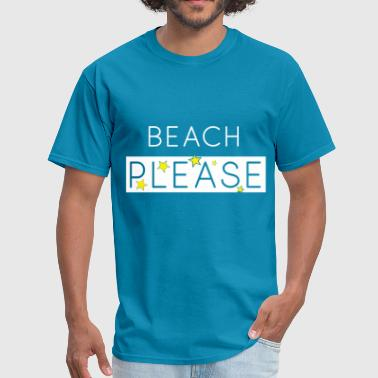 Beach Please Design with Stars - Men's T-Shirt