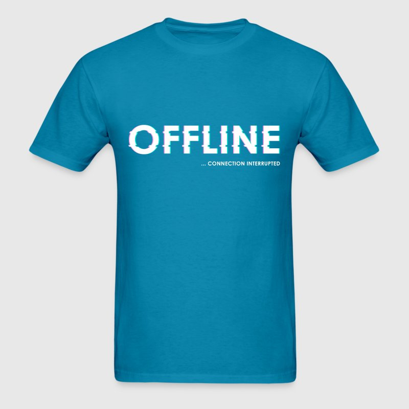 Offline connectionOffline connection interrupted - Men's T-Shirt