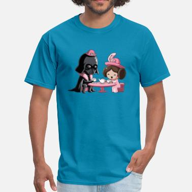 Leia Cute Star Wars Darth Vader and Princess Leia comic - Men's T-Shirt