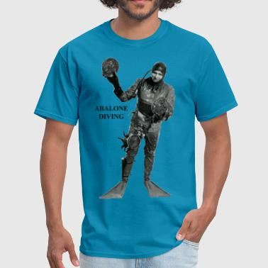 Abalone Shell Vintage Commercial Abalone Diver - Men's T-Shirt