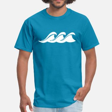 Ocean Wave Ocean Waves Logo - Men's T-Shirt