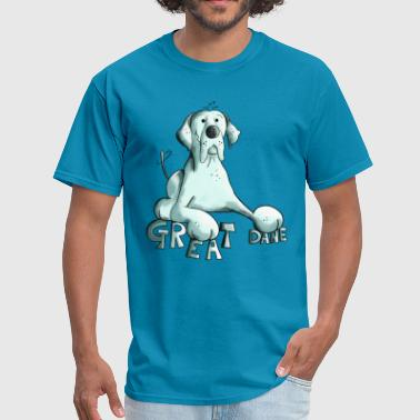 Funny Great Dane - Dog - Dogs - Gift - Comic - Men's T-Shirt