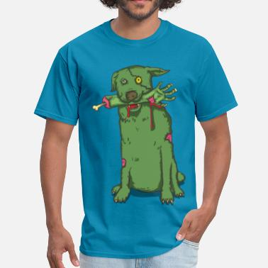 Scary Halloween zombie dog - Men's T-Shirt