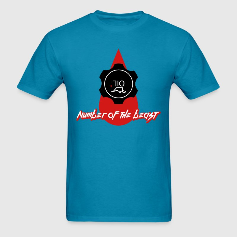 710 oil the number of the beast - Men's T-Shirt