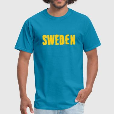 Sverige Sweden Grunge Typography - Men's T-Shirt