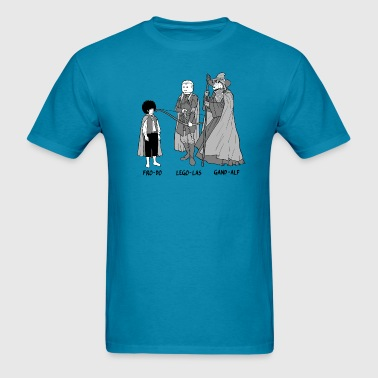 Funny Frodo Legolas and Gandalf parody comic - Men's T-Shirt