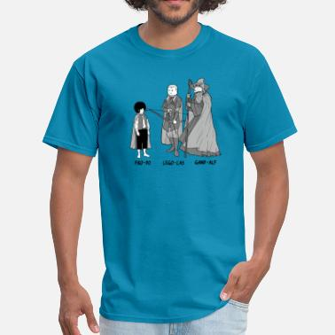 Alf Funny Frodo Legolas and Gandalf parody comic - Men's T-Shirt