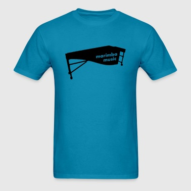 Marimba Music 2 outline - Men's T-Shirt