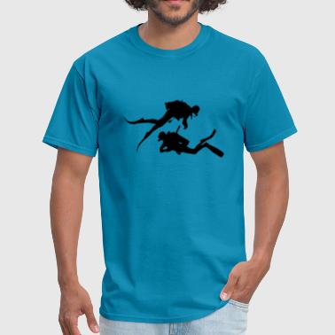 Diver in Sea Underwater Reef, black - Gift Idea - Men's T-Shirt