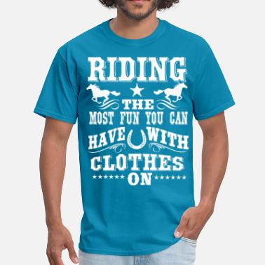 Western Horse Riding -- Fun  - Men's T-Shirt