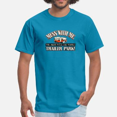 White Trash Funny White trash trailer park - Men's T-Shirt