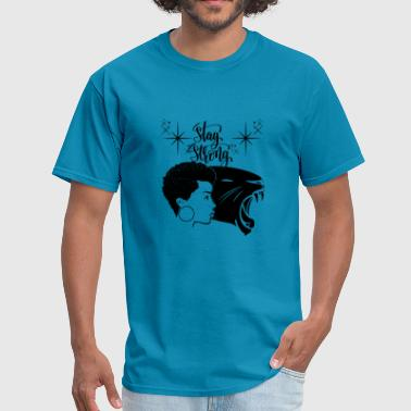 Black Woman Black Panther Power Strong Personality - Men's T-Shirt