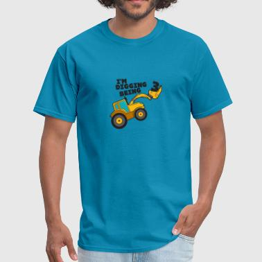 Birthday Digging 3 Digger Family Happy Amazing Fun - Men's T-Shirt