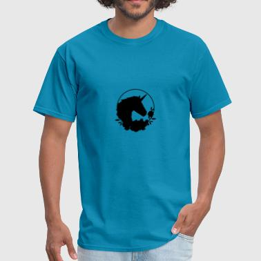 I love black unicorns - Men's T-Shirt