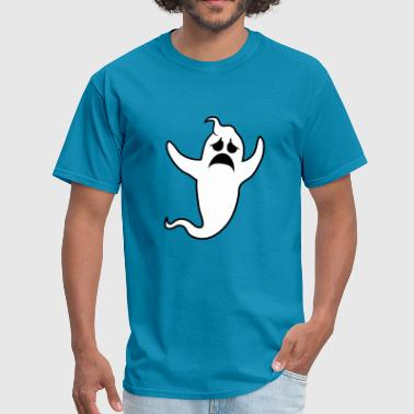 sad unhappy crying howl ghost ghost laugh cute cut - Men's T-Shirt