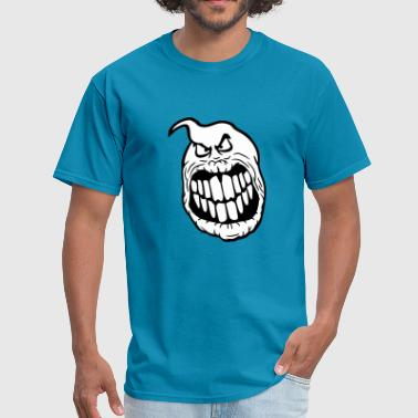 head face evil dangerous ghost ghost laugh cute cu - Men's T-Shirt
