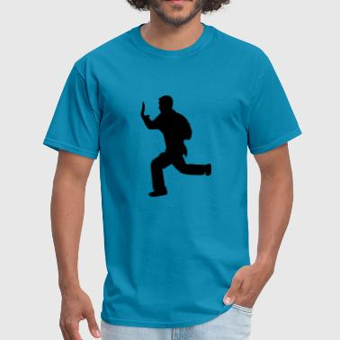 Karate Silhouette Vector Karate fighter silhouette - Men's T-Shirt